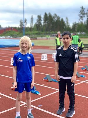 Johannes Persson och Sammy Mohammad tävlade i friidrott för första gången i helgen.