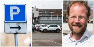 Stora centrumparkeringen i Nykvarn ska snart åtgärdas, enligt Johan Arvidsson.