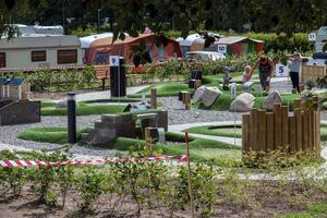 Äventyrsgolfbanan är ett tillskott som bidrar till att höja Skantzö bad och campings betyg.