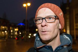 Jonatan Sandberg  från Extinction Rebellion, såg inga problem med den olagliga demonstrationen under kommunfullmäktige.