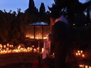 Vid minneslunden på Sofiedals kyrkogård. Foto: Karina Docter