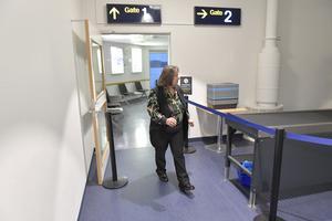 Kerstin Lundh, Miljöpartiet i Mora-Siljans avgångshall utan resande.