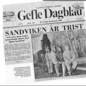 Artikeln i GD 1989 som satte i gång en fajt mellan Sandvikens kommun och Back Beat Bolaget. Bild: Skärmklipp från