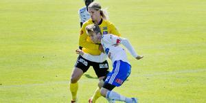 En långhårig Daniel Björnquist blev inlånad från Forward till ÖSK under säsongen. Arkivbild: Veronika Ljung-Nielsen