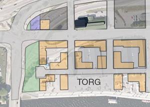 Karta visar hur Beijerområdet ska utvecklas. Totalt byggs sex bostadskvarter och ett höghus i området. Bild: Sundsvalls kommun