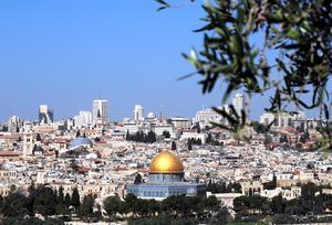 Jerusalem sett från Olivberget.