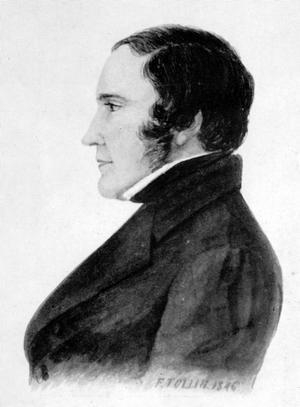 Varvsägaren Lars Bång var 47 år när han avled i kolera 1853. Teckning: Ferdinand Tollin