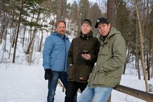 Anders Berg, Andreas Lindman och Emil Granholm tror att extremeventet i geocaching