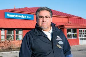 Pedro Quiroga, lärare på Vanstaskolan i Ösmo och ombud för Lärarnas Riksförbund i Nynäshamn.