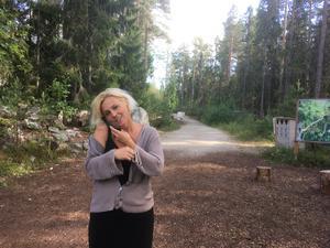 Helena Brusell, entreprenör och projektledare för Trolska skogen.
