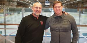 HHC:s sportchef Pär Langer tillsammans med Patrik Klüft. Bild: Hudiksvalls HC