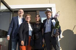 Kommunalråd Fredrik Jarl, Landshövding Ylva Thörn, Jian Dashkoun och Börje Hagström.
