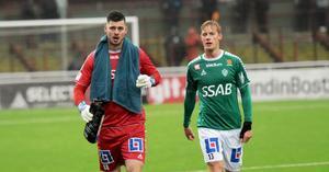 Peter Rosendal och Pontus Hindrikes, två defensiva Bragehjältar i segermatchen mot J-Södra som ger IKB ett drömläge på allsvenskan.