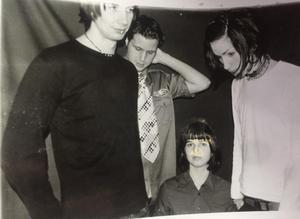 Leiah 1999: Joakim Eriksson, Anders Gustavsson, Annsofie Lundin och David Lehnberg. Bild: facebook.com.