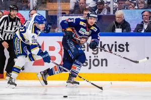 Växjö höll Martin Karlsson och LIF-spelarna utanför de heta lägena – och var nära att nolla Leksand i Dalarna. Foto: Daniel Eriksson/Bildbyrån.