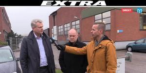 Arlas Sverigechef Patrik Hansson och Gefleortens vd Magnus Lindberg i samband med vår livesändning på onsdagen.