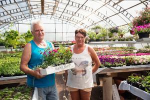 Lennart och Rosa Andersson bor i Bergsgården och ska göra sommarfint i trädgården.