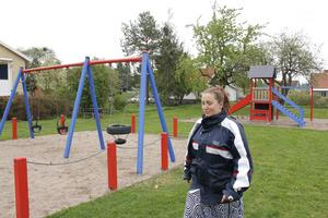 – Lekplatsen skulle kunna bli en jättefin samlingsplats, säger Jennie Ström.