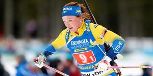 Linn Persson var bästa svenska i Hochfilzen.