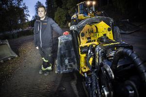 Fredrik Edholm är årets företagare i Ragunda kommun. Han driver Fredriks maskin i Bispgården.