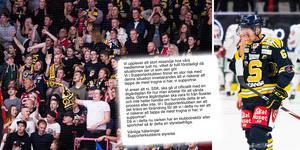SSK:s supporterklubb har krävt att SSK kommunicerar åtgärder för att vända lagets tunga trend i hockeyallsvenskan. Foto: Bildbyrån