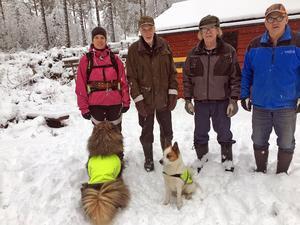 Fyra eldsjälar i projektet är Karin Danielsson, Alf Olsson, John Danielsson och Bosse Danielsson.