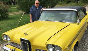 Stefan Hagman kommer att visa upp en Ford Edsel från 1958 vid bilträffen i Viksjö.