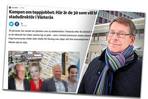 Förra våren sökte Anders Johansson bland annat jobb som stadsdirektör i Västerås. Bild: Skärmdump helahalsingland.se
