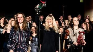 Lisa Rydberg, Lena Willemark och Sofie Livebrant gör