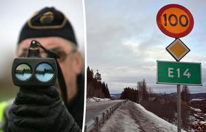 Skribenten gläds åt att se trafikpoliser längs E14. Bild: Fredrik Sandberg/TT / Micke Engström