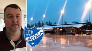 Per Beckne är mycket kritisk till Motala kommuns förslag om åtgärd för Motala isstadion.