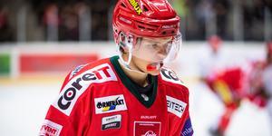 Viktige Modo-backen Mattias Norlinder missar derbyt mot Björklöven på grund av  juniorlandslagsspel. Bild: Robbin Norgren