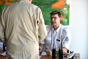 Hans Jörnen, flygchef FFK, är ansvarig för FIG/RG -grupperna och IT-ansvarig på kårstaben.
