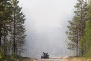 Skogsbrand i Ljusdals kommun sommaren 2018.