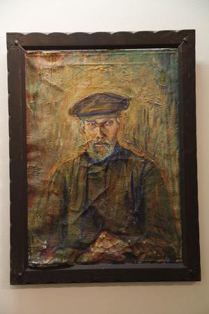 Ada Blombergsson har gjort detta porträtt i olja, Björa Hans.