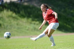 Amanda Löfgren pangade in den matchavgörande straffen för IFK Östersund. Kovlands cupdröm gick därmed i kras.