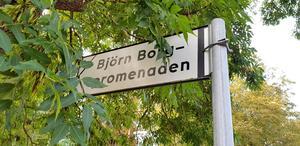 Efter att ha kört Ejdern brukar kapten Björn Borg hälsa passagerarna från Södertälje välkomna åter och ibland passa på att tacka dem för att ha uppkallat en gatstump efter honom.