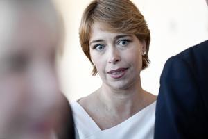 Moderaterna riktar misstroendeförklaring mot Annika Strandhäll. Foto: Stina Stjernkvist / TT