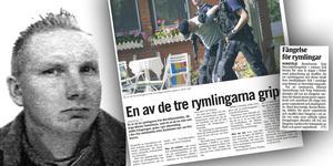 Mårten Tammiharju dömdes till två års fängelse för bland annat grovt vapenbrott och anstiftan till olaga hot, grovt vapenbrott och skadegörelse i Norrtälje tingsrätt efter rymningen år 2004. Foto: Polisen, Arkiv.