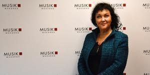Ulla Sjöström, utbildningschef och grundare av Musikmakarna fick motta pris för Most Valuable Person under Denniz Pop Awards.