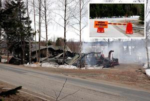 Väg 314 är fortfarande avstängd vid Nybodarna.