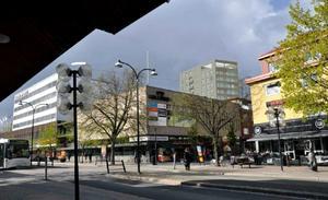 Huset sett från Stationsgatan. Bild: RK Arkitektur AB.