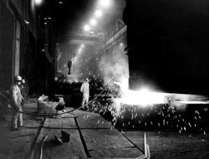 De svenska stålverken gick för fullt på 1960-talet.