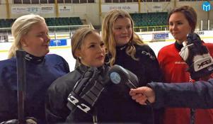 Emmi Norström, Alice Koski, Alva Koski och Linn Stenberg är tre av spelarna i Fagersta AIK:s damlag.
