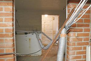 Bild från källarplanet där det återstår en hel del renovering.