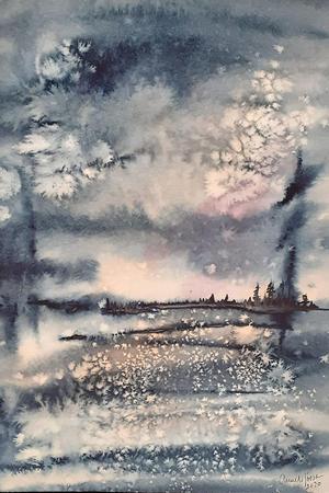 En av Anneli Jöesaars akvarellmålningar.