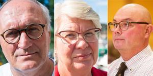 Lars-Erik Olofsson (KD), Ann-Marie Johansson (S) och Mats Gärd (C) hör till de högst arvoderade politikerna i Region Jämtland Härjedalen. Foto: Petter Hansson Frank/Ingmar Reslegård