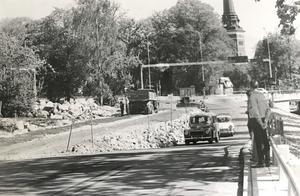 Skultunavägen i juni 1970, bild tagen mot centrum.