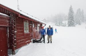 Det var rejält vinterväder i Norra Garberg på lördagen.