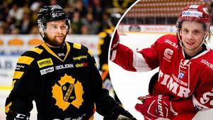 Sebastian Ohlsson och Jonathan Dahlén, vänner som pratat en del om Timrå IK den senaste tiden. Foto: Petter Arvidsson och Nils Jakobsson/Bildbyrån.